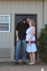 Kissing Next to Dorm 1